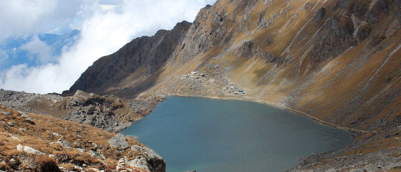 Gosaikunda Lake from Laurina Bina Pass