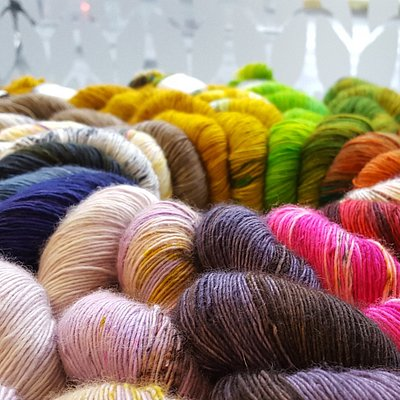 We have a selection of hand dyed yarns