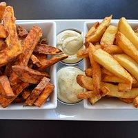 yam and potato fries