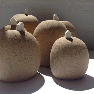 Pequenas esculturas em paperclay