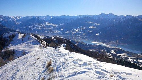 vue sur lac de Serre Ponçon