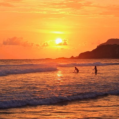 Sunset at a Local Spot Right, Kuta Lombok