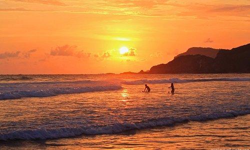 Sunset at a Local Spot Right, Kuta Lombok