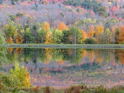 Reflection in Hunter Mountain reservoir