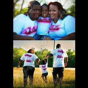 Airbrushed Family Shirts