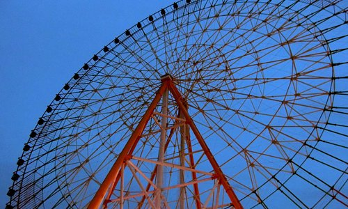 Star of Nanchang (Ferris Wheel) at dusk
