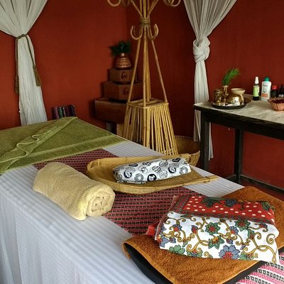 Massage room, Spa area and view from massage bed!