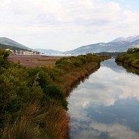Tivat salina and its large river