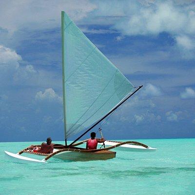 Pirogue ride on Bora Bora's lagoon
