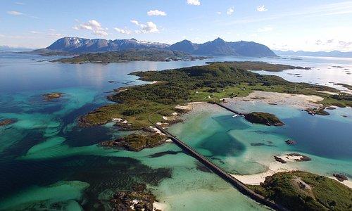Drone image of the Krøttøy