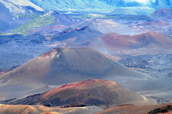 in cima all' Haleakala volcano