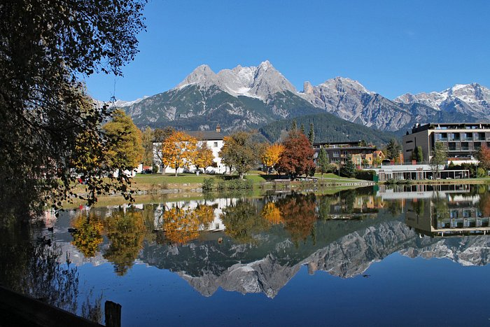 """the mountain range """"Steinernes Meer"""" (means: sea of stones) in the background"""