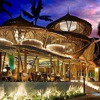 Azul Beach Club. Open Air Restaurant - Infinity Pool - Tiki Bar