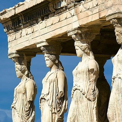 Amazing Athens Tours Greece, The Caryatides on Acropolis Hill