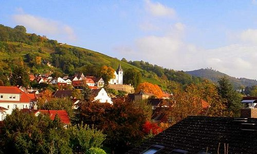 Lovely autumn view from my room's balcony