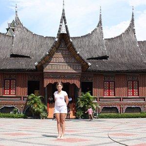 Beautiful Girl in Beautiful Indonesia Miniature Park