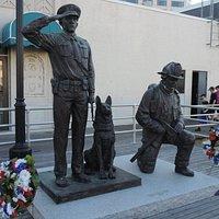 In the line of Duty Memorial, on the Boadwalk, near Arcade Pier