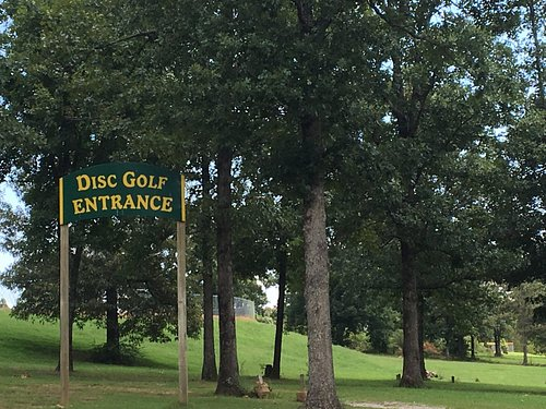 Entrance located in the park.