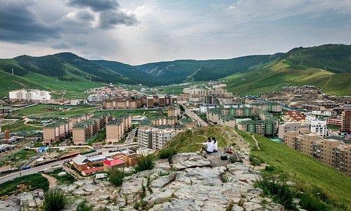 City of Ulaanbaatar view from Zaishan hill