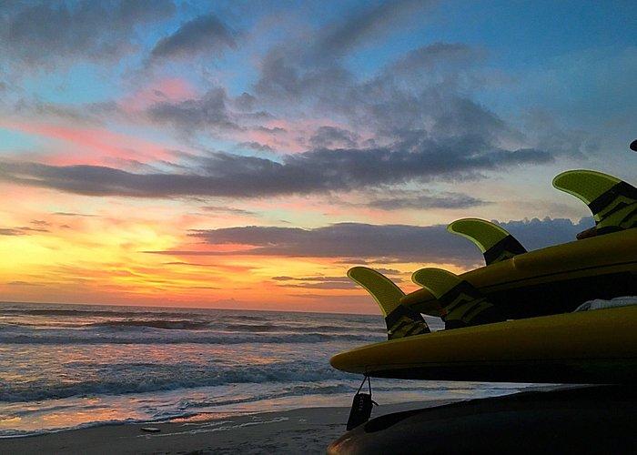 Dawn patrol paddle surfing session