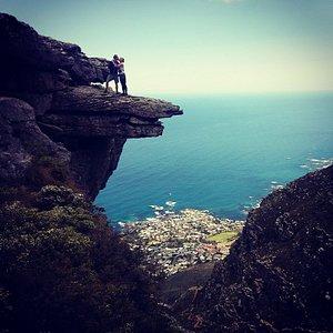 Halfway up table mountain, enjoying the spectacular views