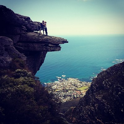 Halfway up table mountain, enjoying the spectacular views