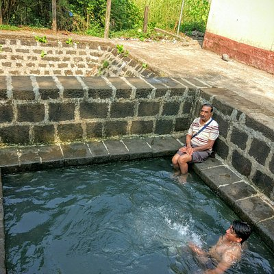 Hot Water Spring - the water is bearable hot and clean