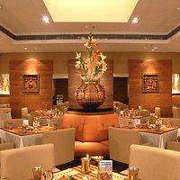 The decor of Aaheli, The Peerless Inn, Kolkata