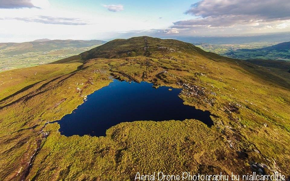 Drone picture of Slieve Gullion