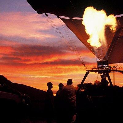 Hot air ballooning over the Pilanesberg