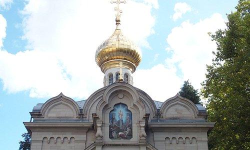 coupole de l'église russe de Baden-Baden