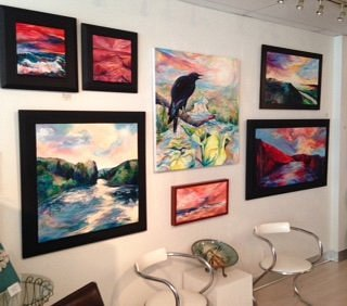 Paintings inside Gallery 37: A Destination for Artful Living