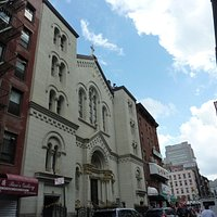 Main facade of the Church of The Most Precious Blood, NYC