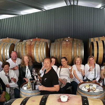 Large groups are accommodated in the the Micro-Winery!