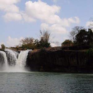 lovely waterfall, the nice stop to discovery vietnam charming