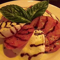 Caprese salad. Good, but ask for extra balsamic.