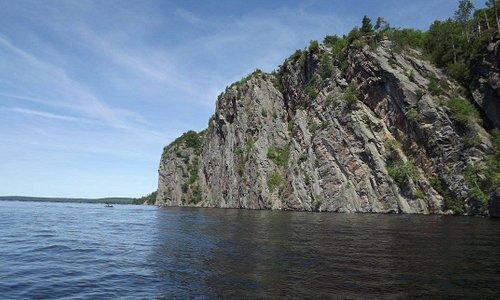 Mazanaw Rock from the lake