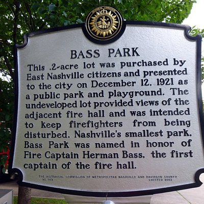 Historical Marker in Bass Park