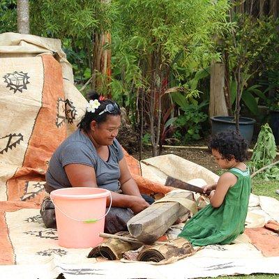 Family at Ancient Tonga