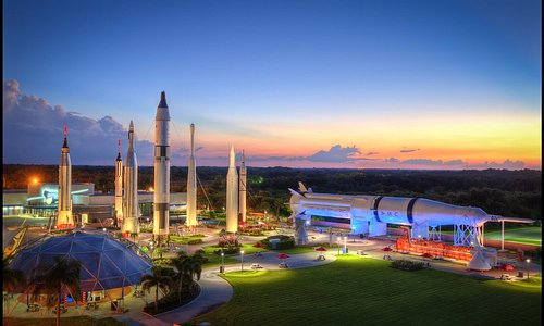 The Rocket Garden at Kennedy Space Center Visitor Complex