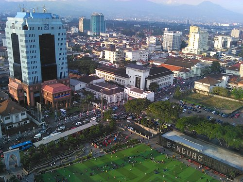 Bandung City Square (Alun-alun), around the office buildings, at the heart of Bandung city