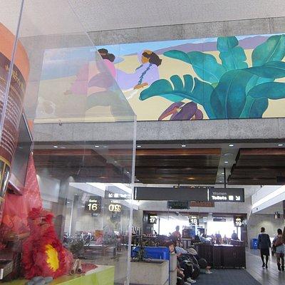 ホノルル空港のペギーの作品1