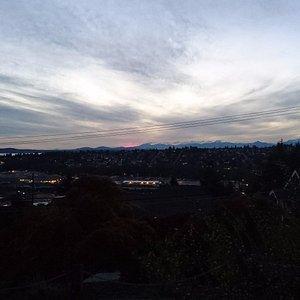 Utsikt på kvällen
