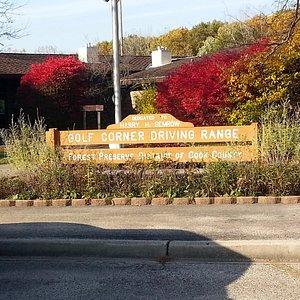Entry sign for Harry Semrow Driving Range