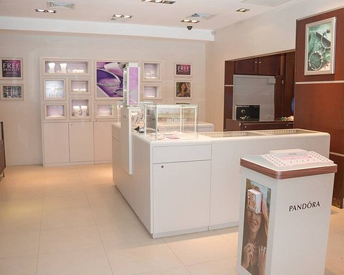 Pandora section at our Fashion Store located in Point Seraphine