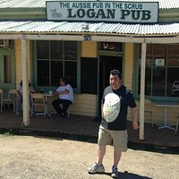 Your host Bloody Keith outside the Logan Pub.