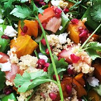 Pumpkin & Cous Cous salad with sheeps fetta