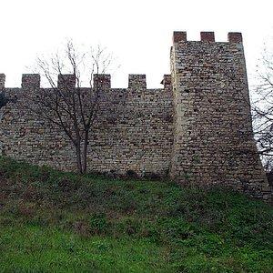 Il bastione sul lato nord delle mura trecentesche