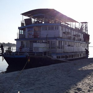the houseboat will carry you upstream and downstream for a while....the rest will be done in a f