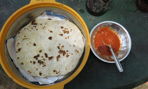The most delicious rotti and sambol I have ever eaten.